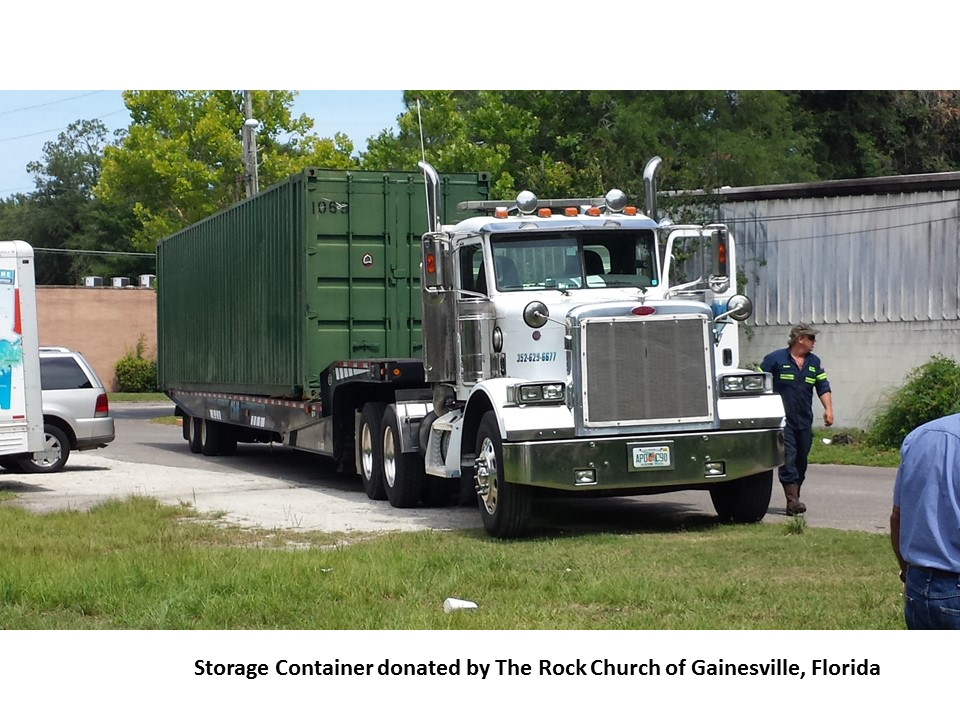 7 Container Donated by The Rock of Gainesville FL
